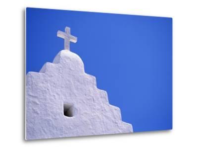 Old Church in Mikonos-David Ball-Metal Print