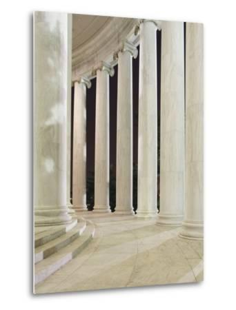Columns Inside the Jefferson Memorial-William Manning-Metal Print