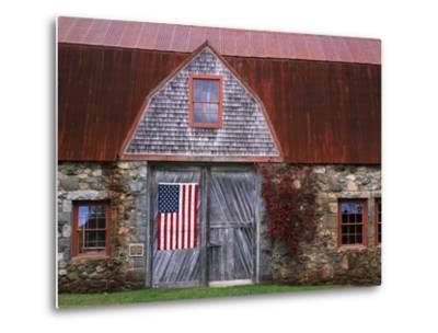 Flag Hanging on Barn Door-Owaki - Kulla-Metal Print