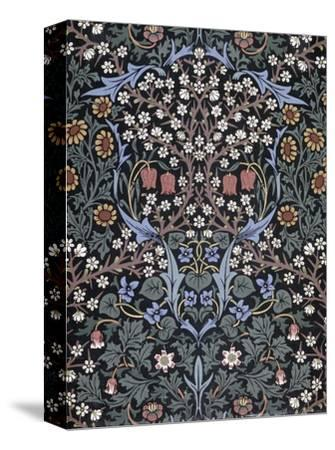 Blackthorn, Wallpaper-William Morris-Stretched Canvas Print