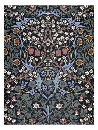 Blackthorn, Wallpaper-William Morris-Premium Giclee Print