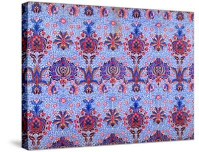 Floral Patterned Wallpaper-William Morris-Stretched Canvas Print