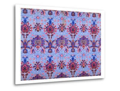 Floral Patterned Wallpaper-William Morris-Metal Print