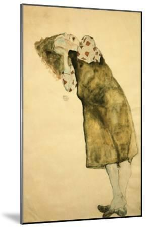 Sleeping Girl-Egon Schiele-Mounted Giclee Print