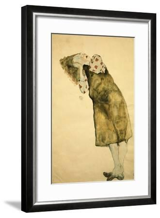 Sleeping Girl-Egon Schiele-Framed Giclee Print