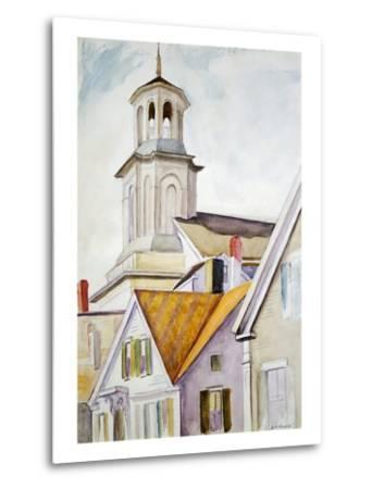 Church Steeple and Rooftops-Edward Hopper-Metal Print