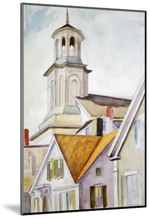 Church Steeple and Rooftops-Edward Hopper-Mounted Giclee Print