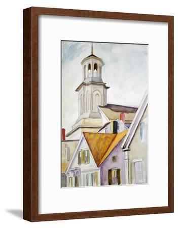 Church Steeple and Rooftops-Edward Hopper-Framed Giclee Print