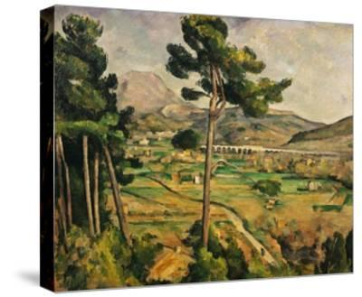 Mont Sainte-Victoire-Paul C?zanne-Stretched Canvas Print