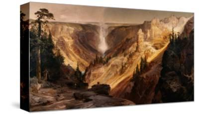 The Grand Canyon of the Yellowstone-Thomas Moran-Stretched Canvas Print