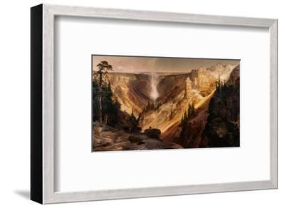 The Grand Canyon of the Yellowstone-Thomas Moran-Framed Premium Giclee Print