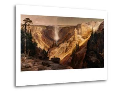 The Grand Canyon of the Yellowstone-Thomas Moran-Metal Print