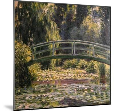 The Japanese Footbridge, Giverny-Claude Monet-Mounted Giclee Print