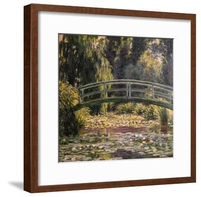 The Japanese Footbridge, Giverny-Claude Monet-Framed Giclee Print