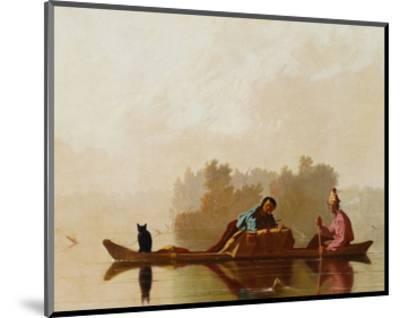 Fur Traders Descending the Missouri-George Caleb Bingham-Mounted Premium Giclee Print
