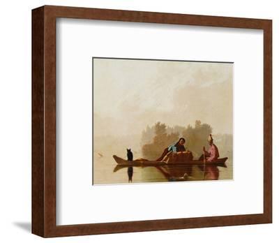 Fur Traders Descending the Missouri-George Caleb Bingham-Framed Premium Giclee Print