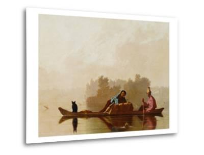 Fur Traders Descending the Missouri-George Caleb Bingham-Metal Print