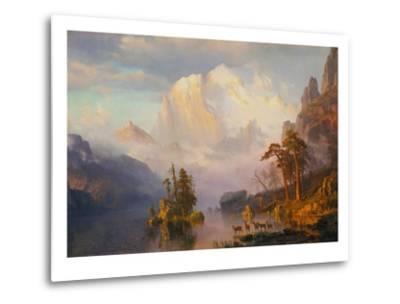 Rocky Mountains-Albert Bierstadt-Metal Print