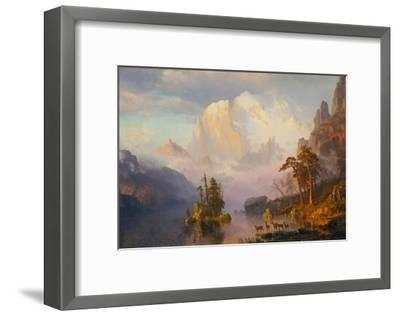 Rocky Mountains-Albert Bierstadt-Framed Giclee Print