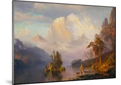 Rocky Mountains-Albert Bierstadt-Mounted Giclee Print