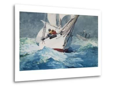 Reefing Sails Around Diamond Shoals, Cape Hatteras-Winslow Homer-Metal Print