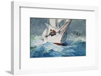 Reefing Sails Around Diamond Shoals, Cape Hatteras-Winslow Homer-Framed Giclee Print
