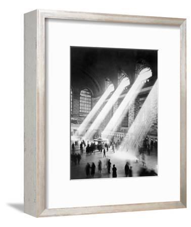 Sunbeams in Grand Central Station--Framed Premium Photographic Print