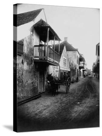 Street in St. Augustine, Florida--Stretched Canvas Print