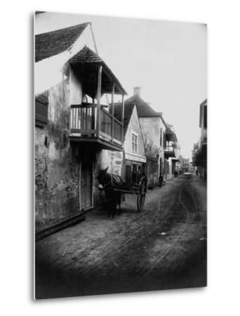 Street in St. Augustine, Florida--Metal Print