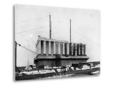 Construction of the Lincoln Memorial--Metal Print