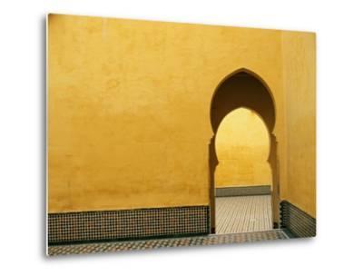 Doorway at Mausoleum of Moulay Ismail-Paul Souders-Metal Print