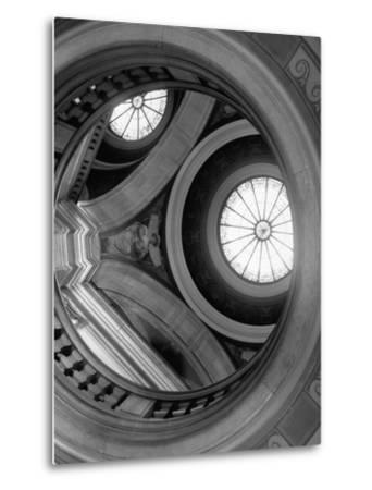 Interior of Essex County Courthouse Rotunda-Karen Tweedy-Holmes-Metal Print