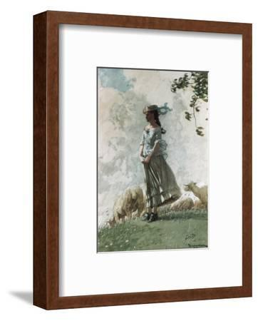 Fresh Air-Winslow Homer-Framed Premium Giclee Print