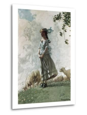 Fresh Air-Winslow Homer-Metal Print