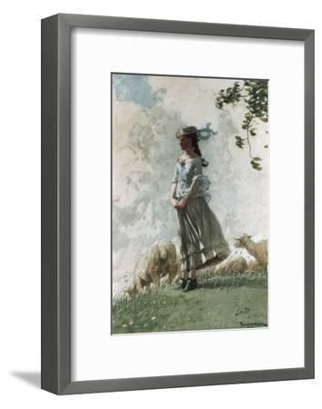 Fresh Air-Winslow Homer-Framed Giclee Print