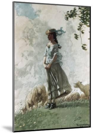 Fresh Air-Winslow Homer-Mounted Giclee Print