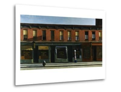 Early Sunday Morning-Edward Hopper-Metal Print