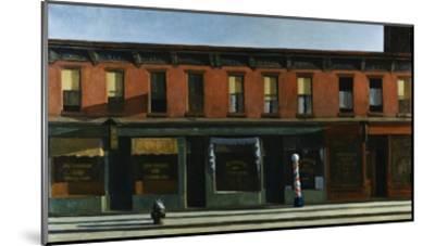 Early Sunday Morning-Edward Hopper-Mounted Giclee Print