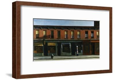 Early Sunday Morning-Edward Hopper-Framed Giclee Print