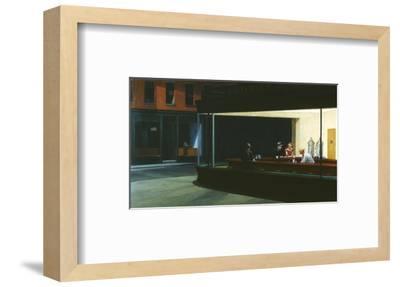 Nighthawks-Edward Hopper-Framed Premium Giclee Print