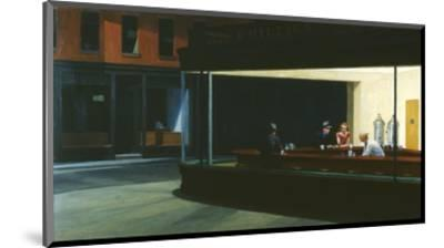 Nighthawks-Edward Hopper-Mounted Premium Giclee Print