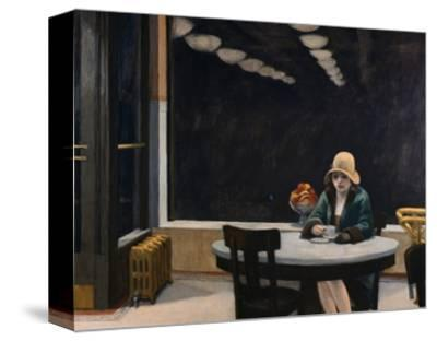Automat-Edward Hopper-Stretched Canvas Print