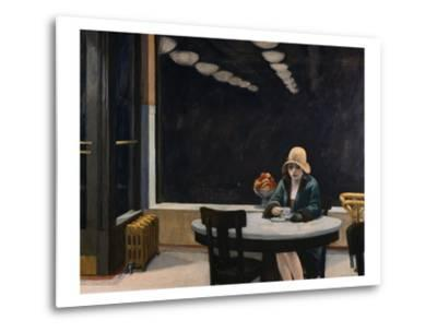 Automat-Edward Hopper-Metal Print