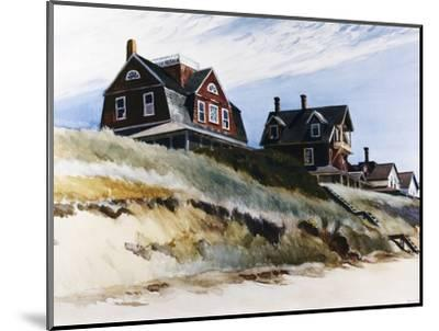 Cottages at Wellfleet-Edward Hopper-Mounted Premium Giclee Print