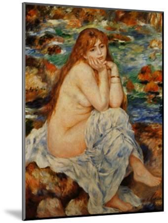 Bather Seated on a Sand Bank-Pierre-Auguste Renoir-Mounted Giclee Print