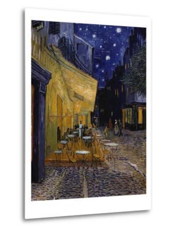 Cafe Terrace at Night-Vincent van Gogh-Metal Print