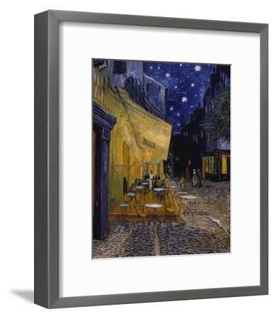 Cafe Terrace at Night-Vincent van Gogh-Framed Giclee Print
