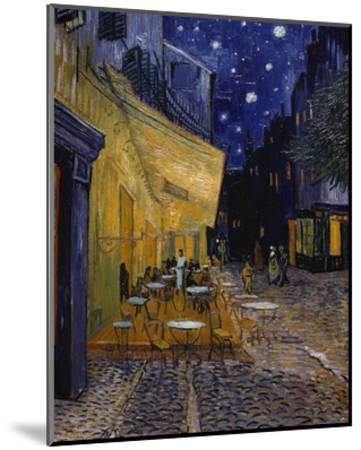 Cafe Terrace at Night-Vincent van Gogh-Mounted Giclee Print