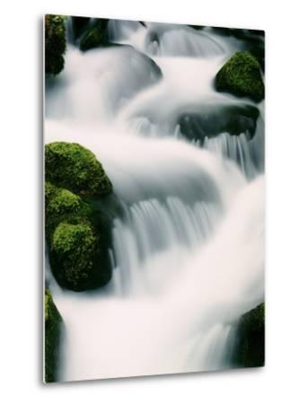 Water cascading - Oregon-Craig Tuttle-Metal Print
