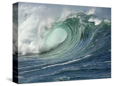 Shorebreak Waves in Waimea Bay-Rick Doyle-Stretched Canvas Print